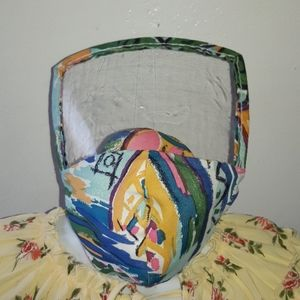 MASK WHITH COVER PLASTIC